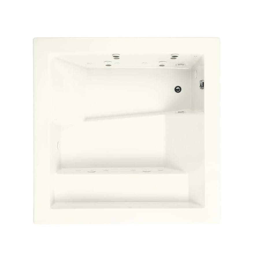 KOHLER Consonance 2-Person Biscuit Acrylic Rectangular Whirlpool Tub (Common: 69-in x 69-in; Actual: 24-in x 69.25-in x 69.25-in)