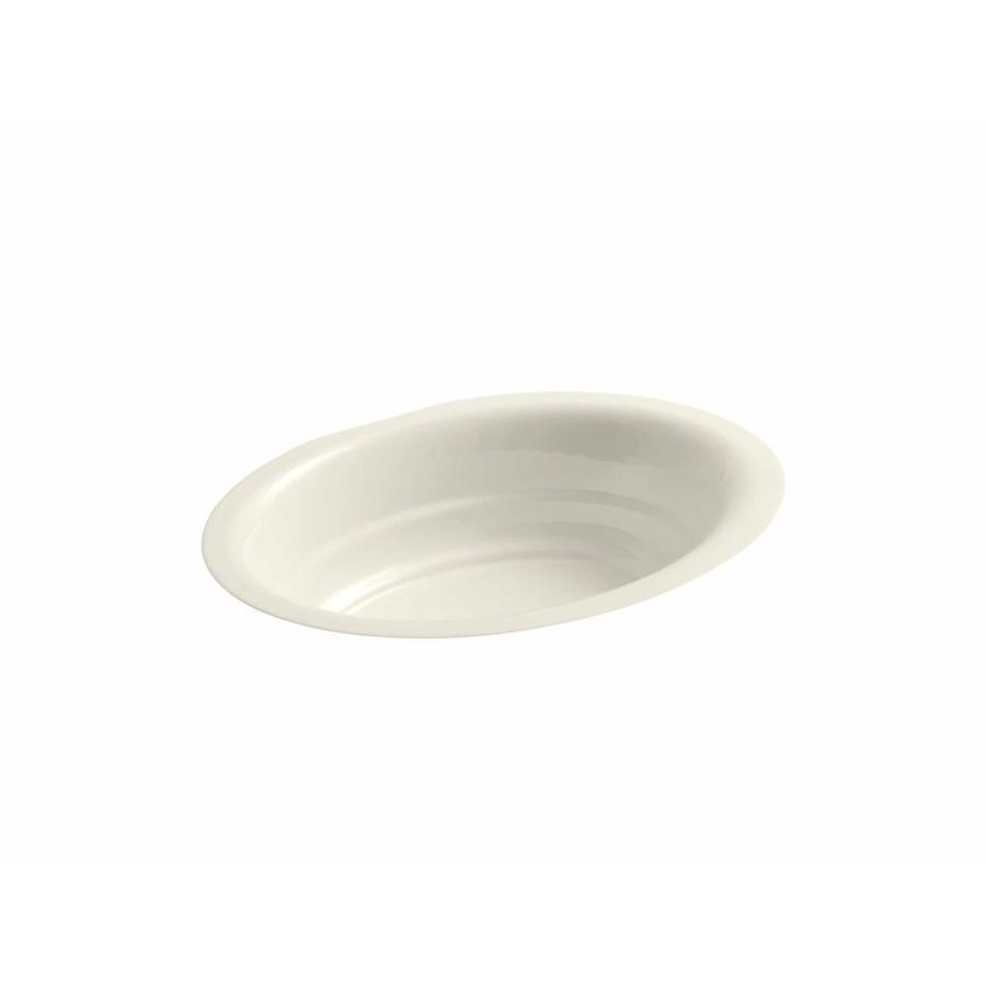 KOHLER Garamond Almond Cast Iron Undermount Oval Bathroom Sink