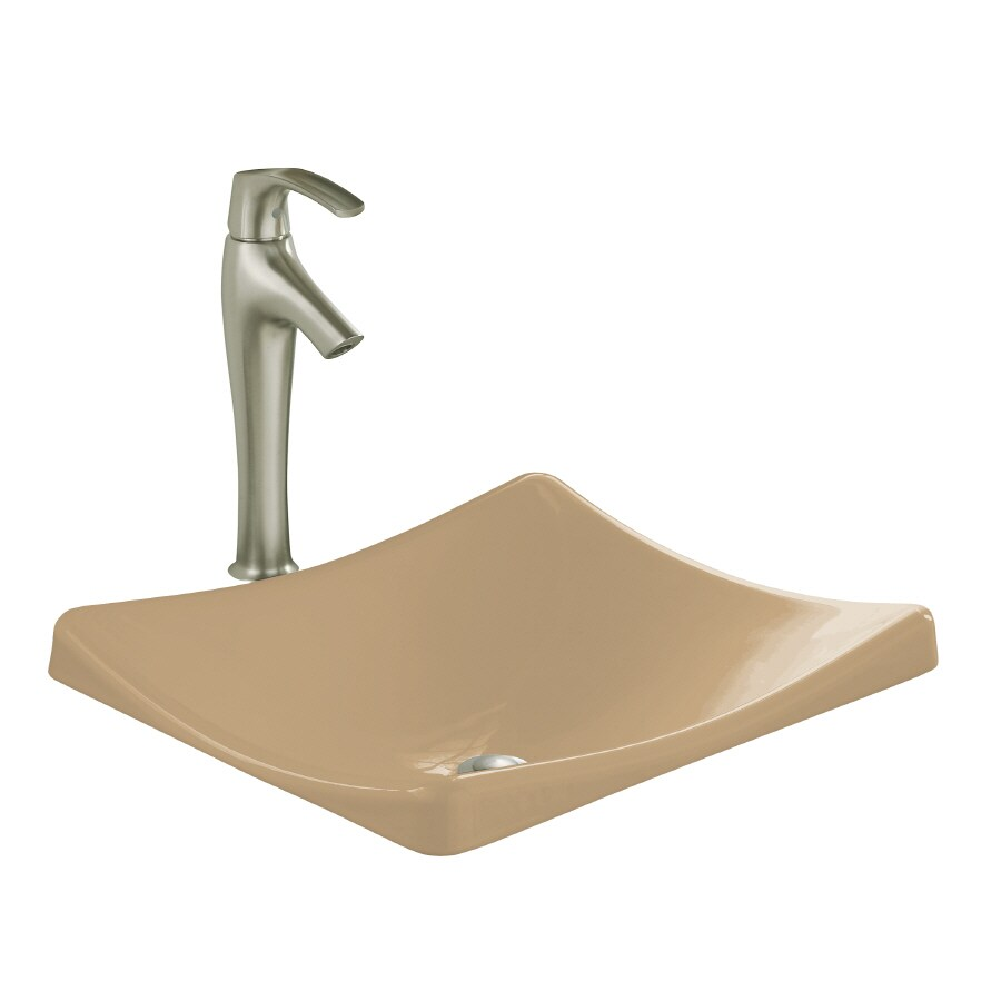 KOHLER Demilav Mexican Sand Cast Iron Drop-in Rectangular Bathroom Sink