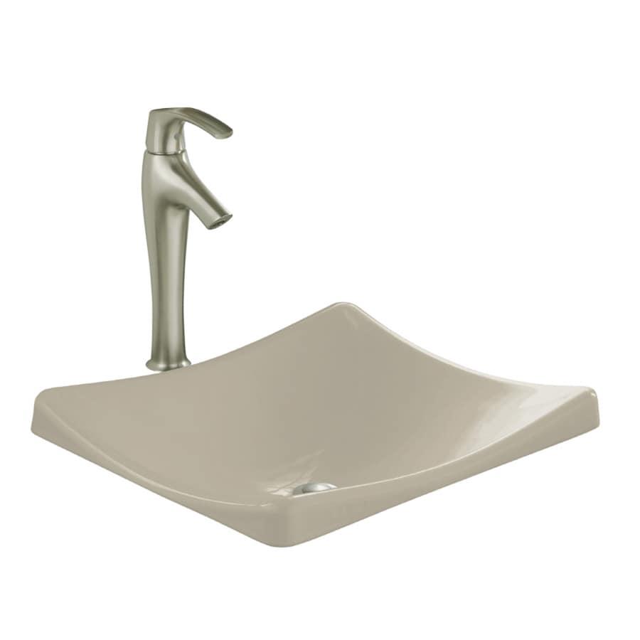 KOHLER Demilav Sandbar Cast Iron Drop-in Rectangular Bathroom Sink