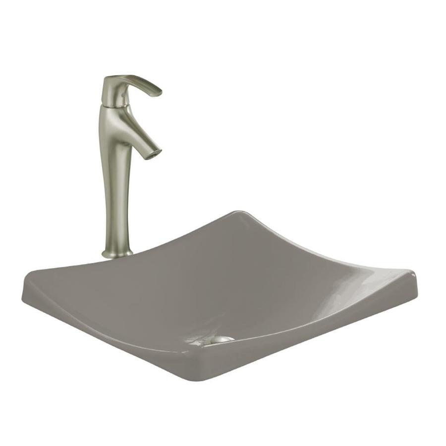 KOHLER Demilav Cashmere Cast Iron Drop-in Rectangular Bathroom Sink