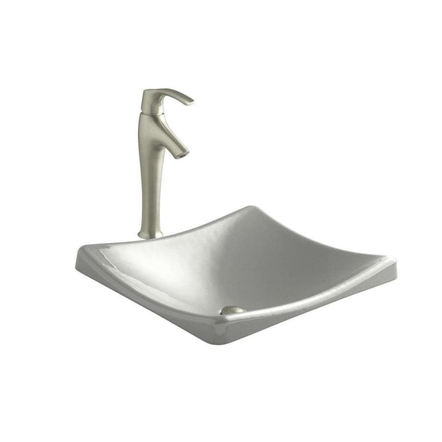 KOHLER Demilav Sea Salt Cast Iron Drop-in Rectangular Bathroom Sink