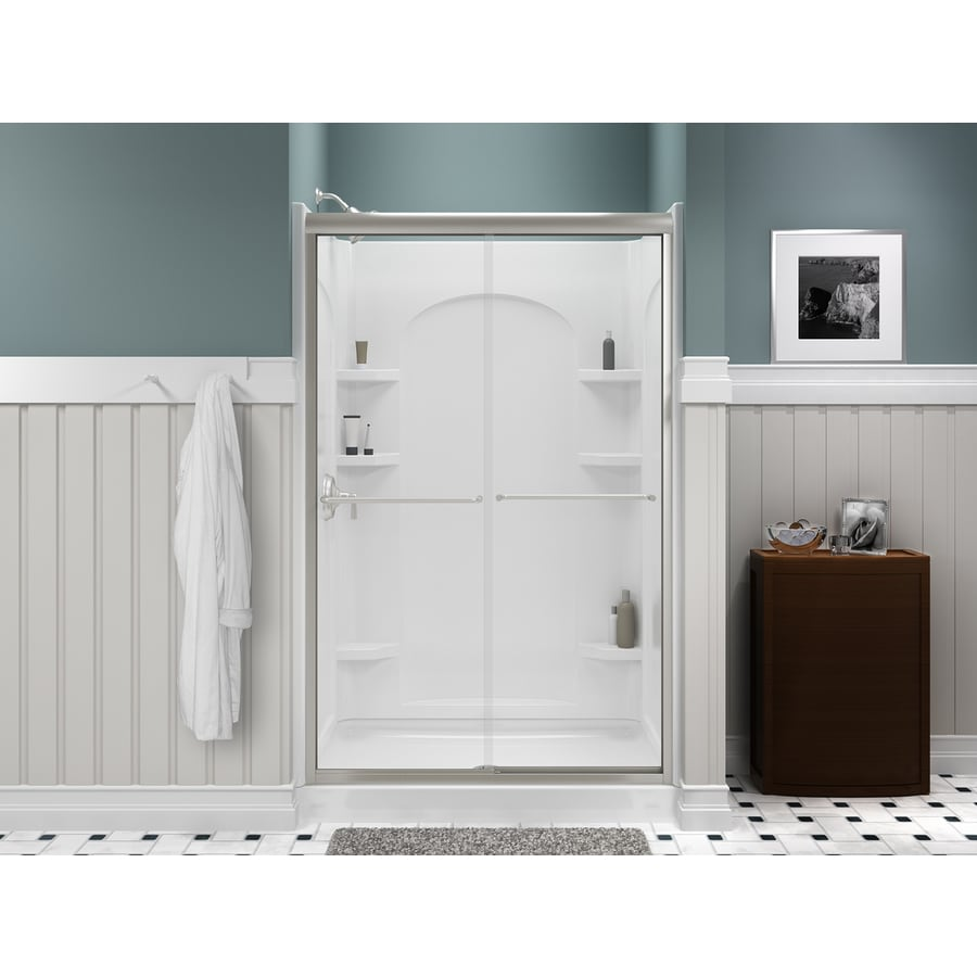 Sterling Ensemble White Vikrell Shower Base (Common: 34-in W x 36-in L; Actual: 34-in W x 36-in L)