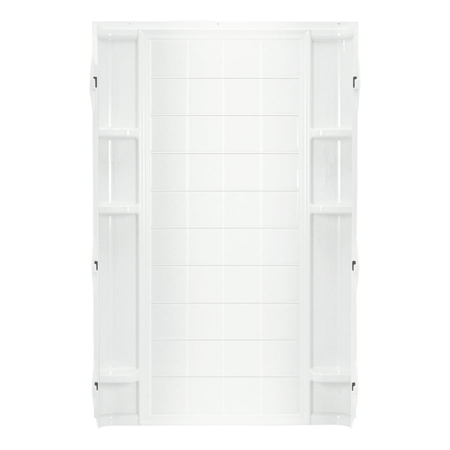 Shop Sterling Ensemble White Shower Wall Surround Back Panel (Common ...