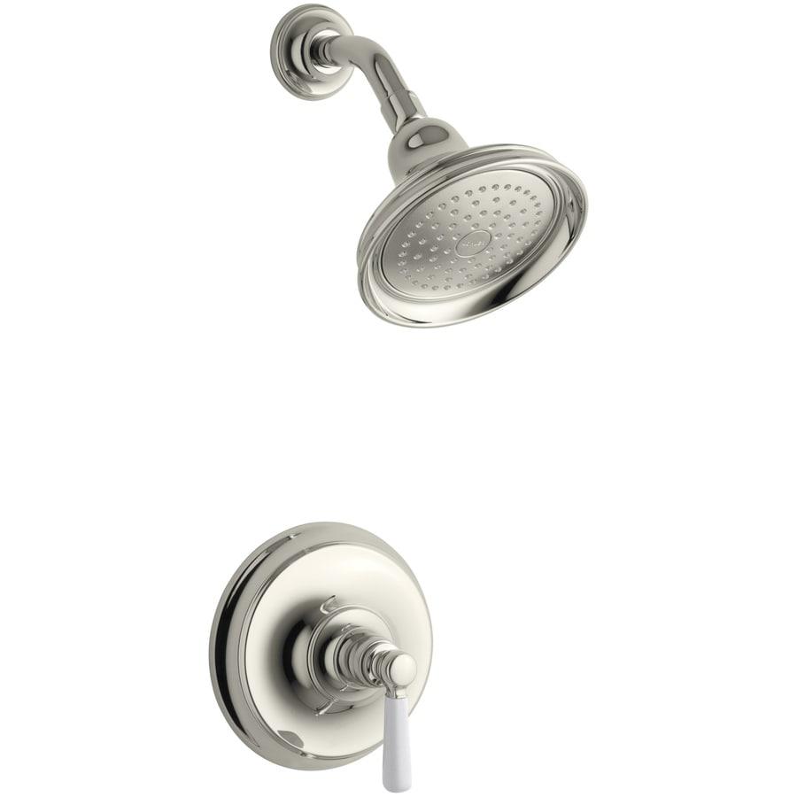 KOHLER Bancroft Vibrant Polished Nickel 1-Handle Shower Faucet Trim Kit with Single Function Showerhead