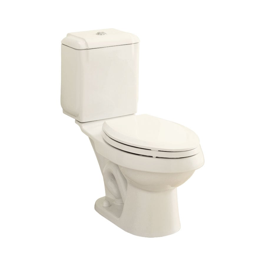 Sterling Rockton 1.6-GPF Biscuit WaterSense Dual-Flush Elongated Standard Height 2-Piece Toilet
