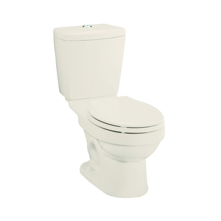 Sterling Karsten Biscuit 1.6; 0.8-GPF 12-in Rough-In WaterSense Round Dual-Flush 2-Piece Standard Height Toilet