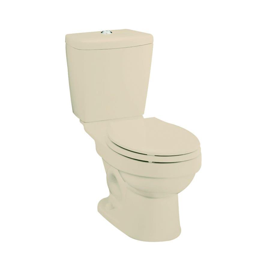 Sterling Karsten Almond 1.6; 0.8-GPF 12-in Rough-In WaterSense Round Dual-Flush 2-Piece Standard Height Toilet