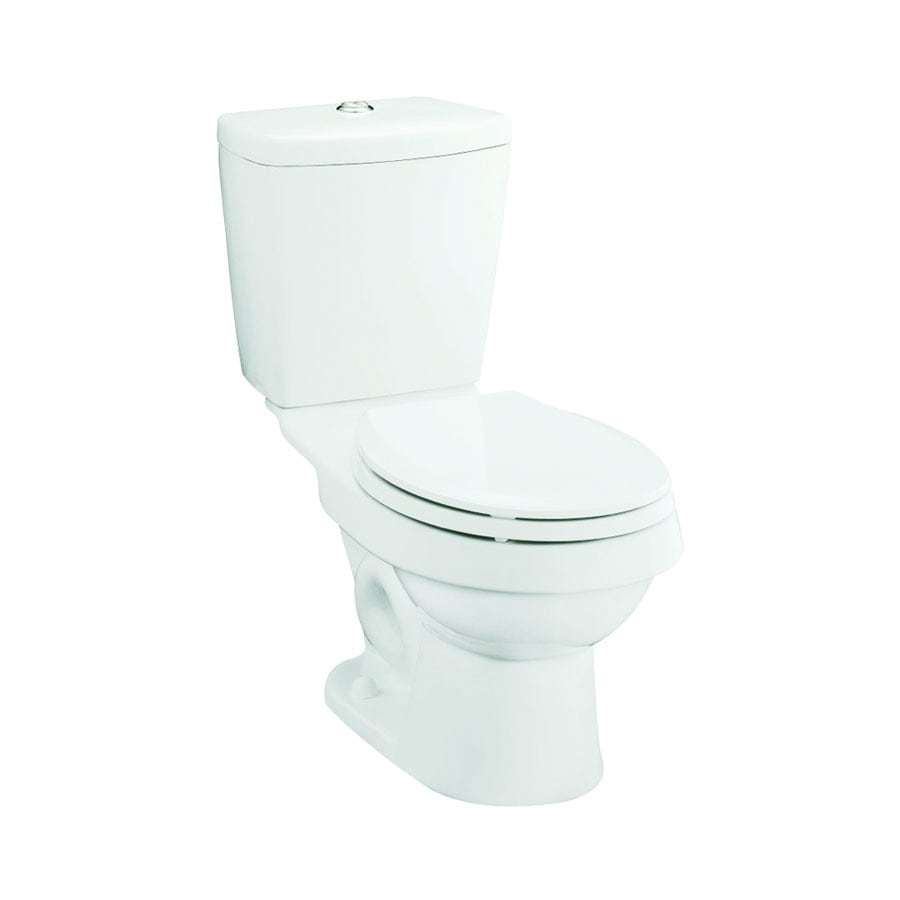 Sterling Karsten White WaterSense Labeled Dual Elongated Standard Height 2-piece Toilet 12-in Rough-In Size