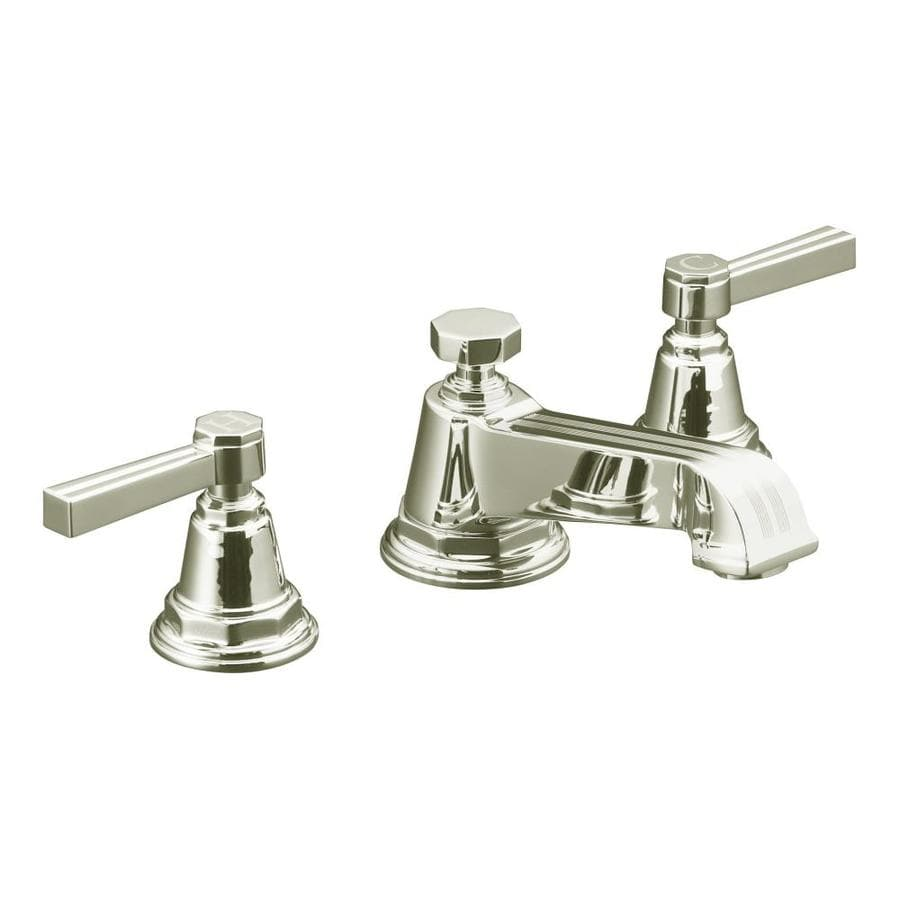Kohler pinstripe vibrant polished nickel 2 handle - Kohler two tone bathroom faucets ...