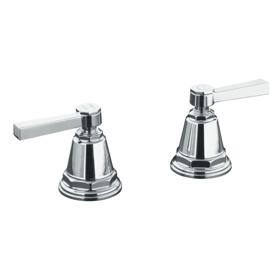 KOHLER Pinstripe Polished Chrome 2-Handle Fixed Deck Mount Bathtub Faucet