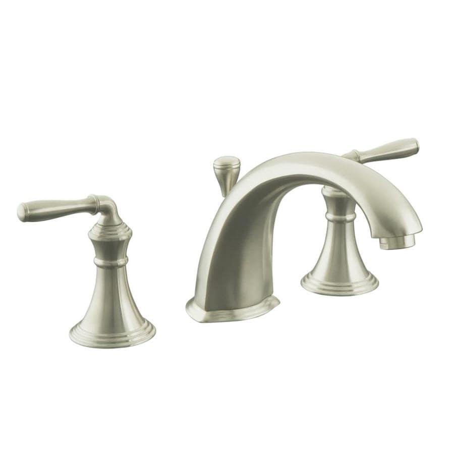 Shop KOHLER Devonshire Vibrant Brushed Nickel Handle Fixed Deck - Kohler devonshire bathroom faucet brushed nickel