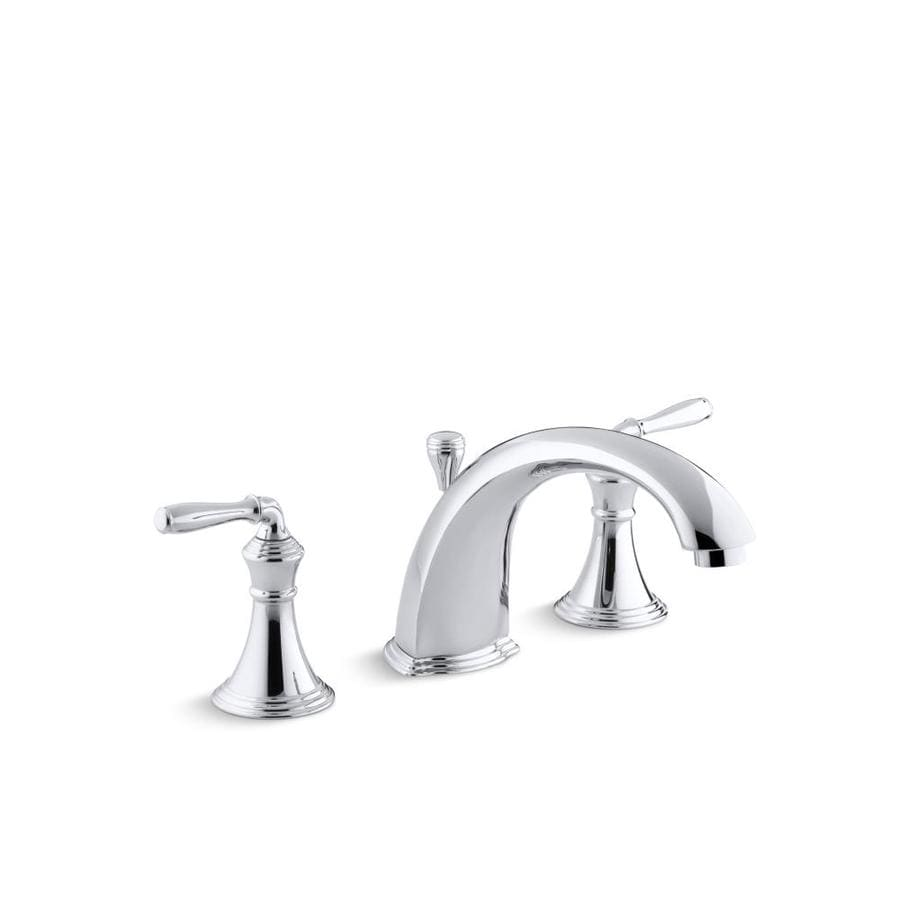 KOHLER Devonshire Polished Chrome 2-Handle Fixed Deck Mount Bathtub Faucet