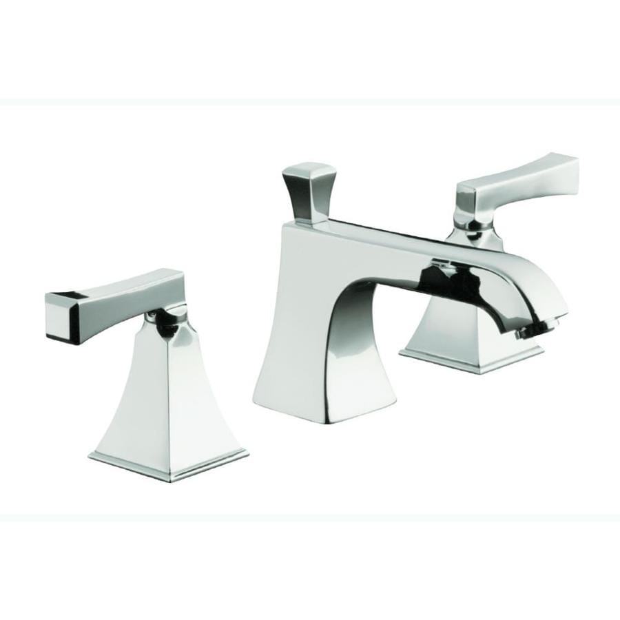 Kohler memoirs polished chrome 2 handle deck mount roman - Kohler two tone bathroom faucets ...