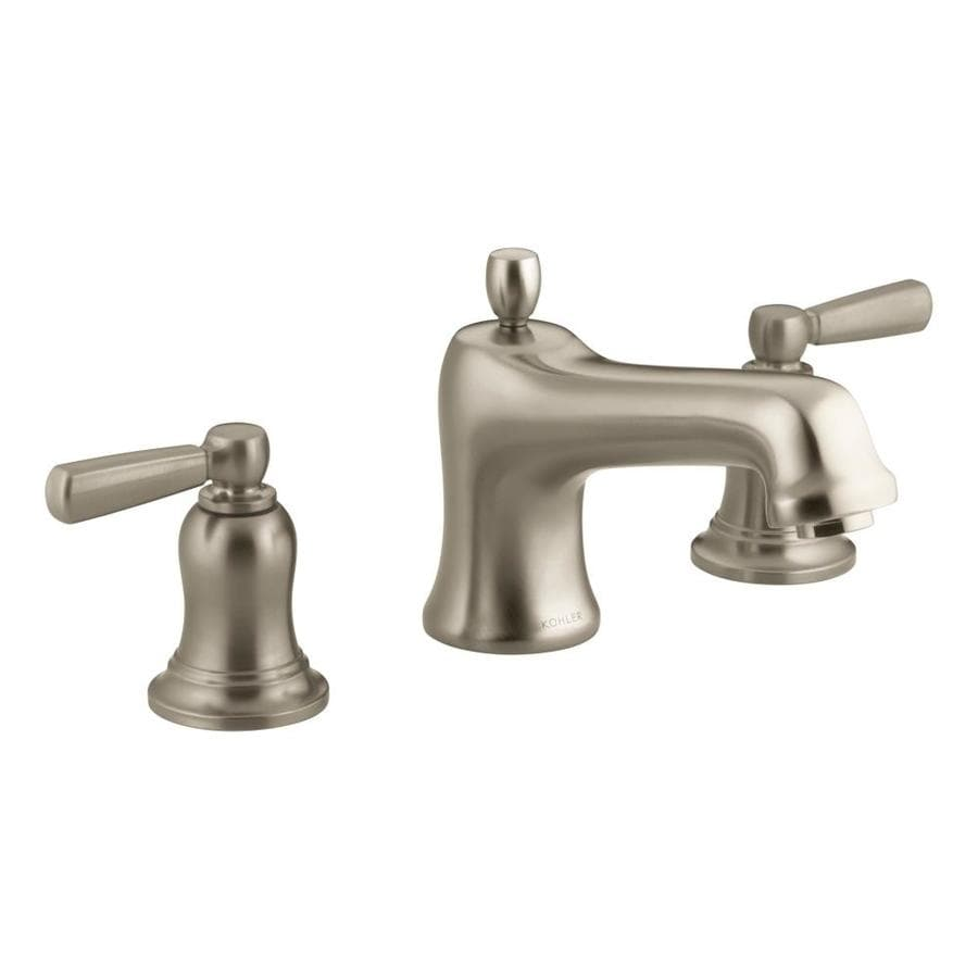 Kohler bancroft vibrant brushed bronze 2 handle deck mount - Kohler two tone bathroom faucets ...