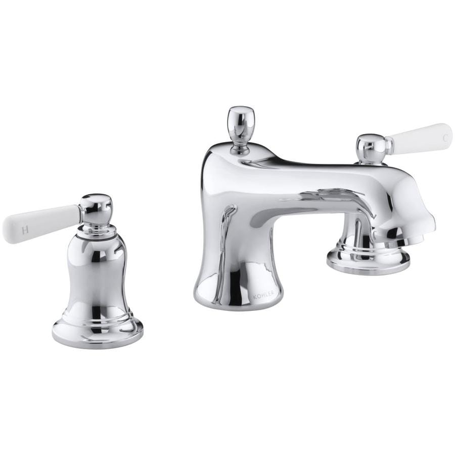 KOHLER Bancroft Polished Chrome 2-Handle Fixed Deck Mount Bathtub Faucet