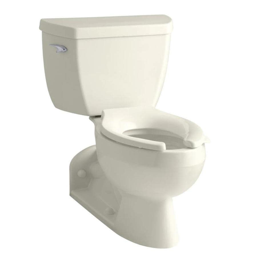 KOHLER Barrington 1.6-GPF (6.06-LPF) Biscuit Elongated 2-piece Toilet