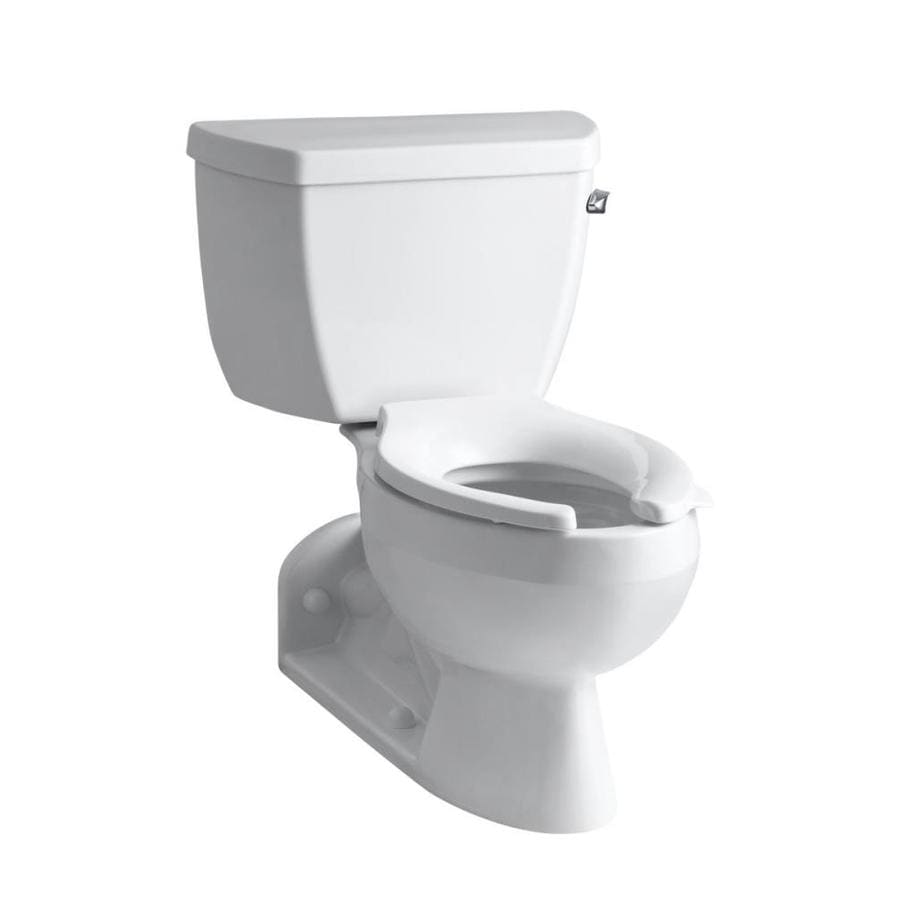 KOHLER Barrington White  Elongated Standard Height 2-piece Toilet 4-in Rough-In Size