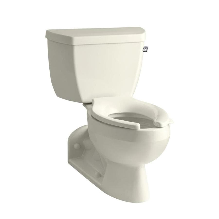 KOHLER Barrington Biscuit  Elongated Standard Height 2-piece Toilet 4-in Rough-In Size
