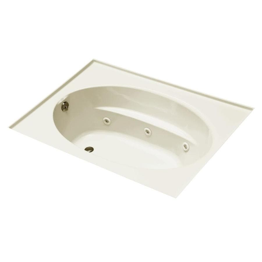 KOHLER Windward 60-in Biscuit Acrylic Alcove Whirlpool Tub with Left-Hand Drain