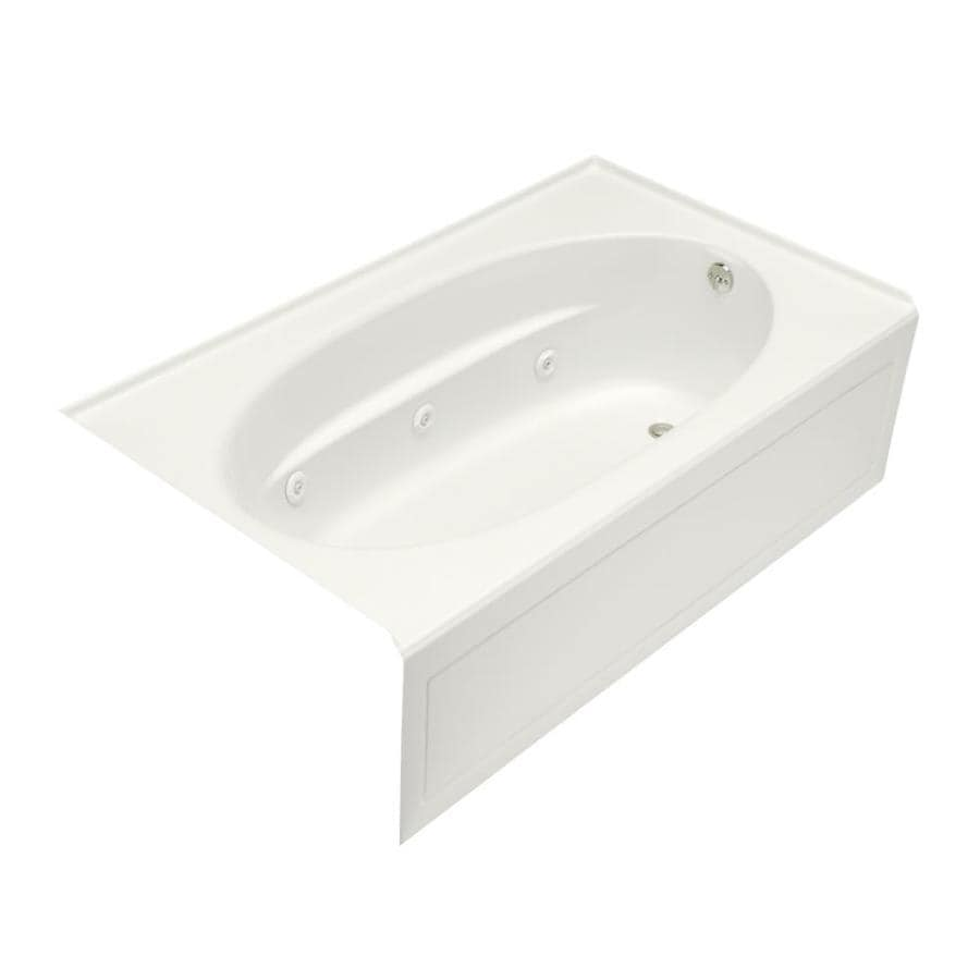 KOHLER Windward 60-in White Acrylic Skirted Whirlpool Tub with Right-Hand Drain