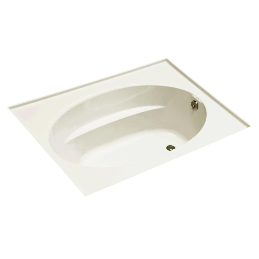KOHLER Windward 60-in Biscuit Acrylic Drop-In Bathtub with Right-Hand Drain