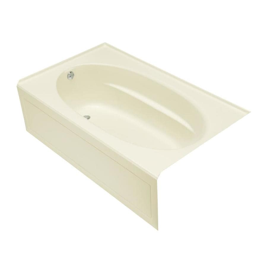 KOHLER Windward 60-in Biscuit Acrylic Alcove Bathtub with Left-Hand Drain