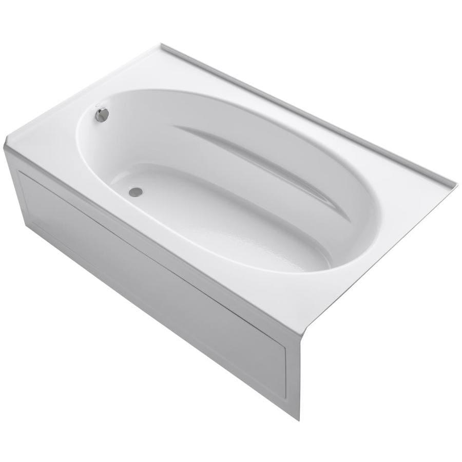 KOHLER Windward 72-in White Acrylic Skirted Bathtub with Left-Hand Drain
