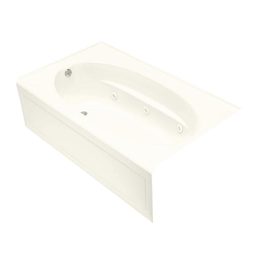 KOHLER Windward 72-in Biscuit Acrylic Skirted Whirlpool Tub with Left-Hand Drain