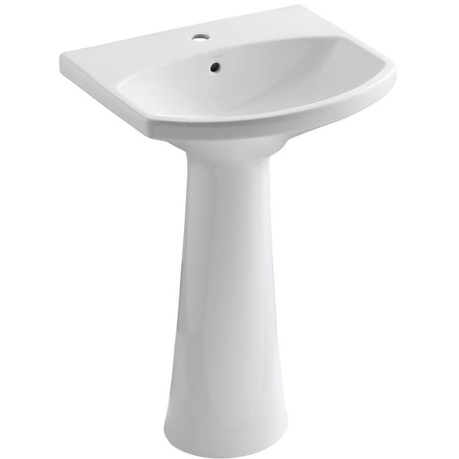 KOHLER Cimarron 34.5-in H White Vitreous China Pedestal Sink