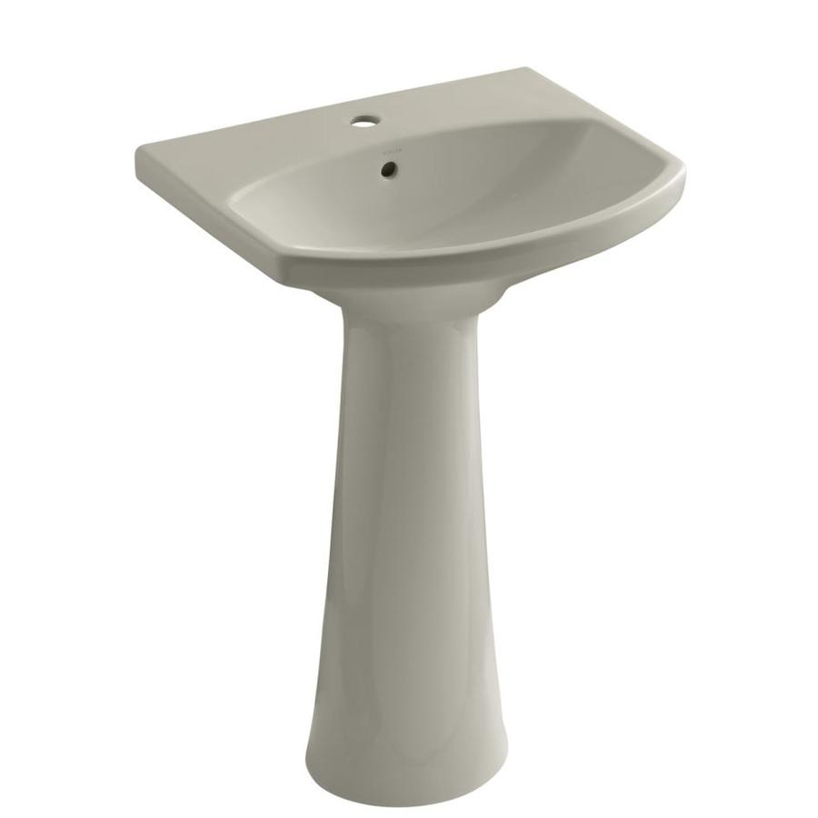 KOHLER Cimarron 34.5-in H Sandbar Vitreous China Pedestal Sink
