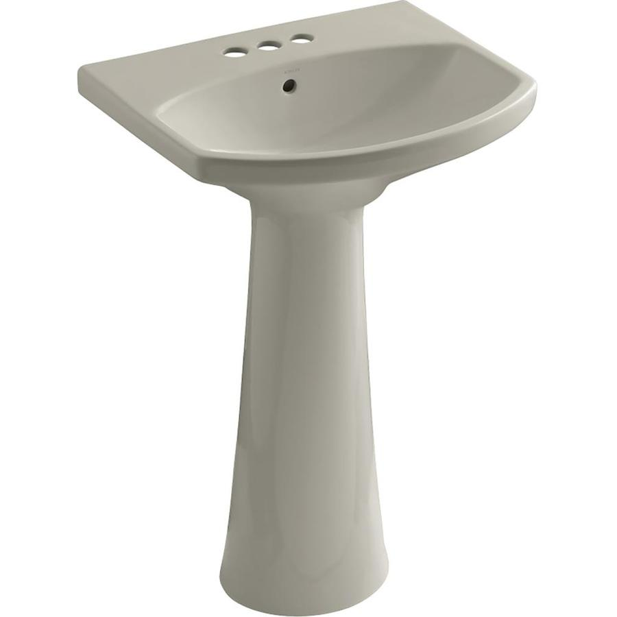 KOHLER Cimarron 34.5-in H Biscuit Vitreous China Pedestal Sink