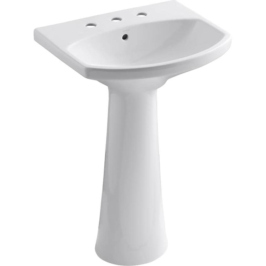 KOHLER Cimarron 34.5 In H White Vitreous China Pedestal Sink