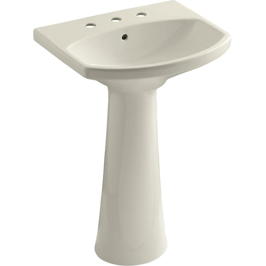 KOHLER Cimarron 34.5-in H Almond Vitreous China Pedestal Sink