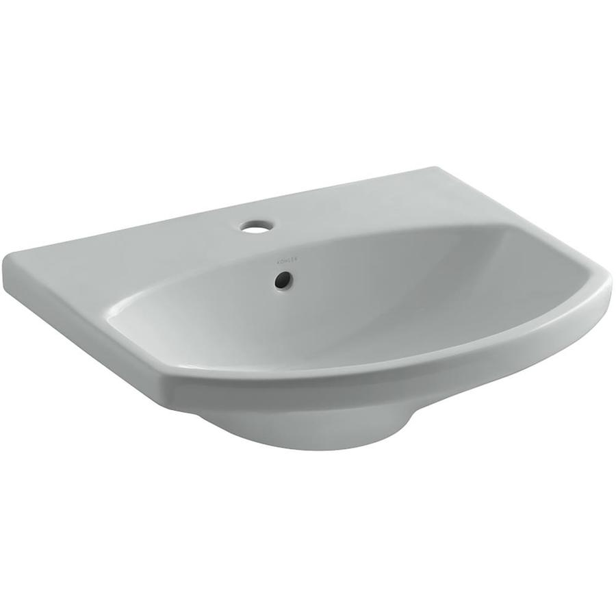 KOHLER 22.75-in L x 18.88-in W Ice Grey Vitreous China Pedestal Sink Top