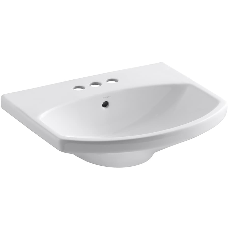 KOHLER Cimarron 22.75-in L x 18.875-in W White Vitreous China Oval Pedestal Sink Top