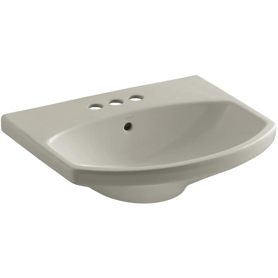 KOHLER 22.75-in L x 18.88-in W Sandbar Vitreous China Pedestal Sink Top