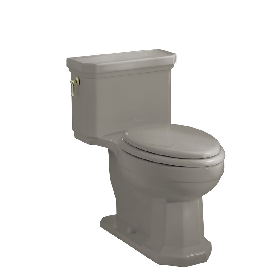 KOHLER Kathryn Cashmere 1.6-GPF/6.06-LPF 12-in Rough-in Elongated 1-Piece Comfort Height Toilet