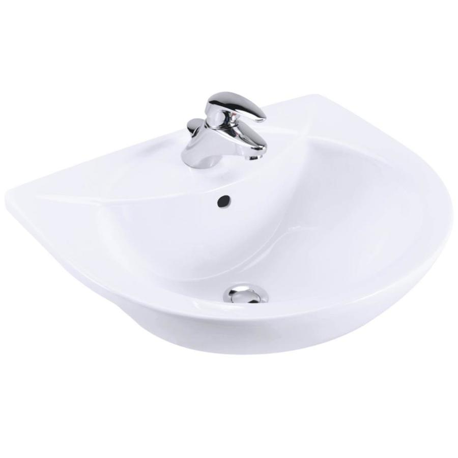 KOHLER Odeon White Drop-in Rectangular Bathroom Sink with Overflow