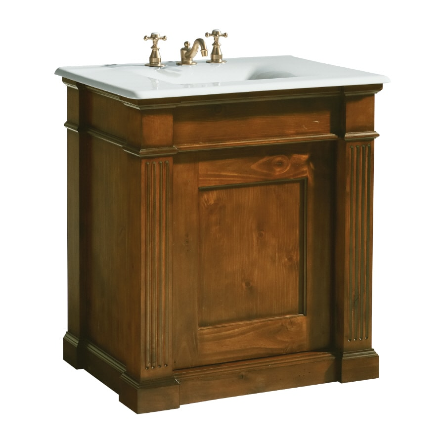 KOHLER Thistledown Sienna Traditional Knotty Pine Bathroom Vanity (Common:  30-in X 22