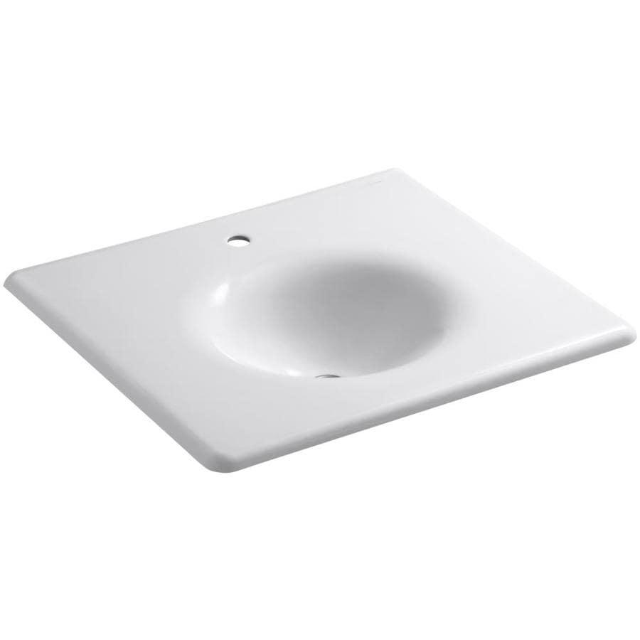 KOHLER Impressions White Cast Iron Oval Bathroom Sink