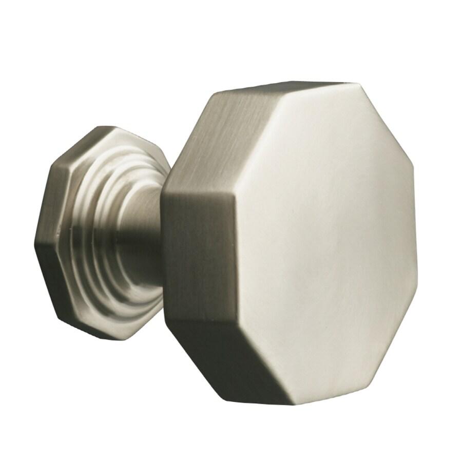 KOHLER Pinstripe Vibrant Brushed Nickel Octangular Cabinet Knob