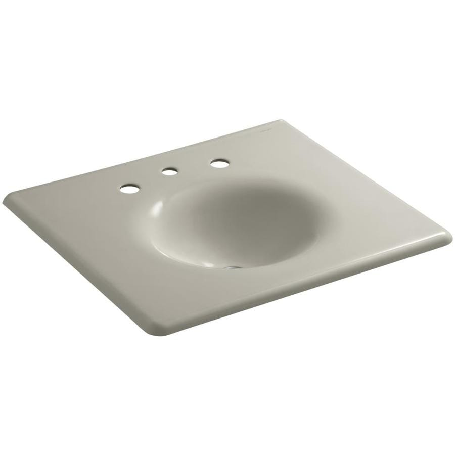KOHLER Impressions Sandbar Cast Iron Oval Bathroom Sink
