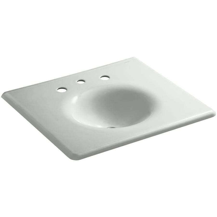 Shop Kohler Impressions Cane Sugar Cast Iron Oval Bathroom Sink At