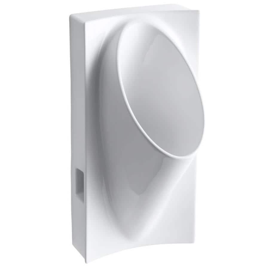 KOHLER 15-in W x 29.625-in H White Wall-Mounted Urinal