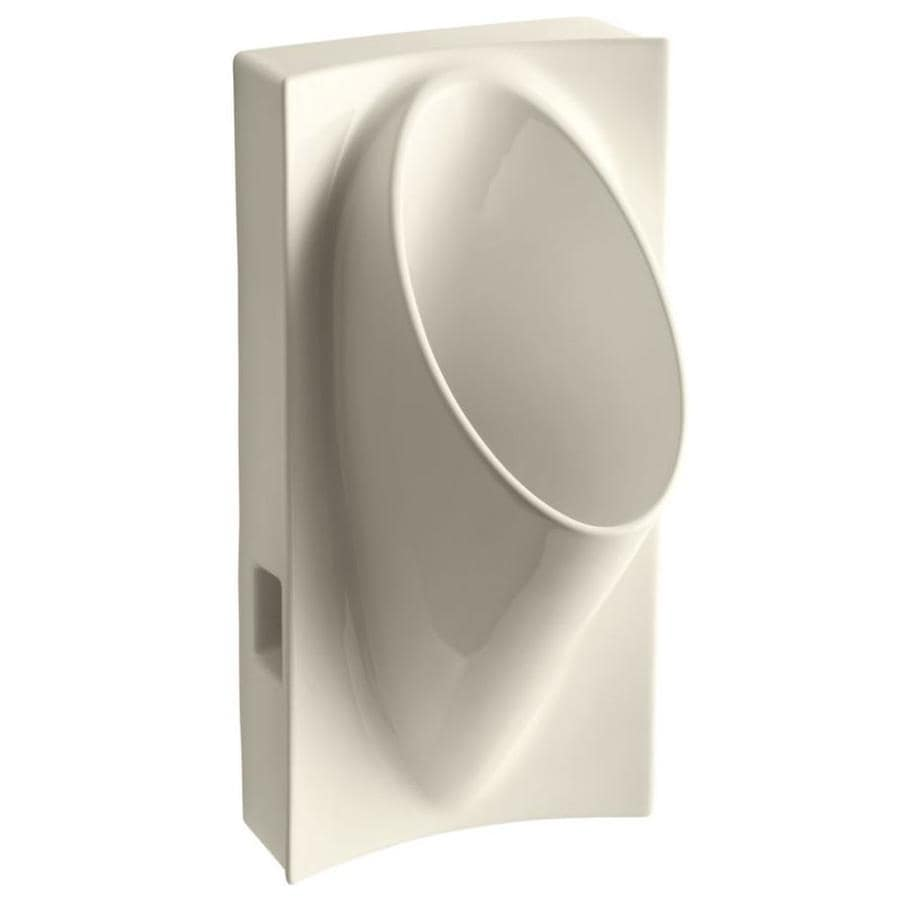 KOHLER 15-in W x 29.625-in H Almond Wall-Mounted Urinal