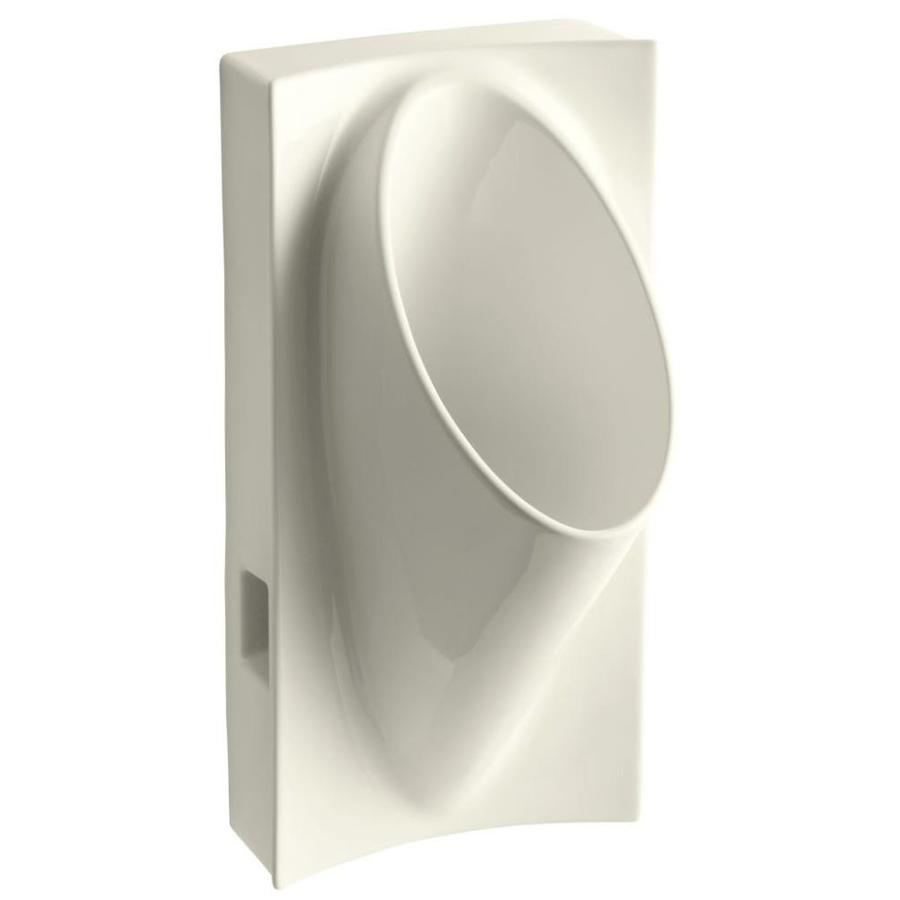 KOHLER 15-in W x 29.625-in H Biscuit Wall-Mounted Urinal