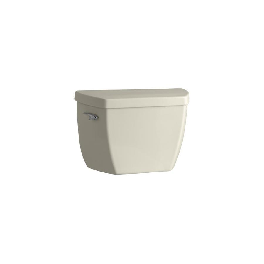 KOHLER Highline Almond 1.0-GPF Single-Flush High-Efficiency Toilet Tank
