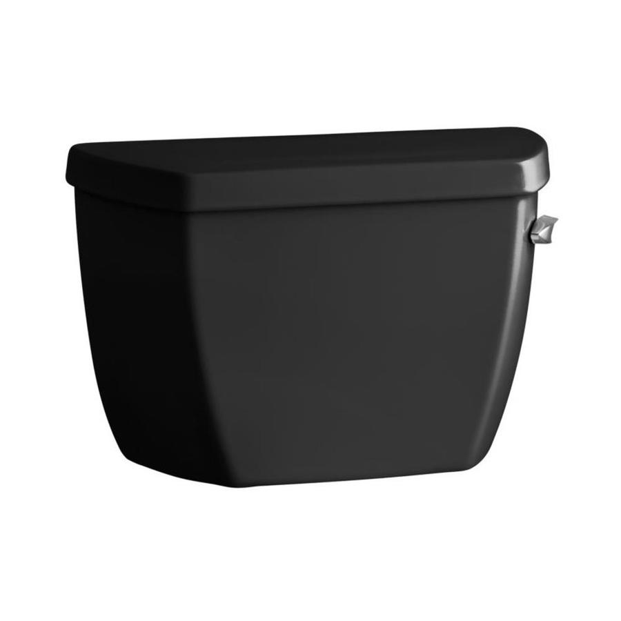 KOHLER Highline Classic Black Black 1.0-GPF (3.79-LPF) 12 Rough-In Single-Flush Toilet Tank