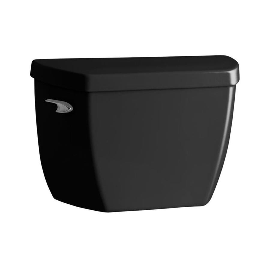 KOHLER Highline Classic Black Black 1.0-GPF (3.79-LPF) 12 Rough-In Single-Flush High-Efficiency Toilet Tank